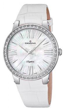 Candino Uhr Damen Armbanduhr C4597/1 Saphirglas Lederband