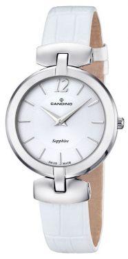 Candino Damenuhr C4566/1 Armbanduhr Lederband weiß