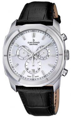 Candino Uhr Herrenuhr C4582/1 schwarz silber Chronograph