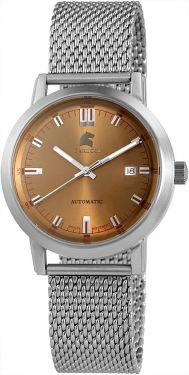 Carucci Automatikuhr CA2195ST-BR Edelstahl Uhr silber braun Milaneseband