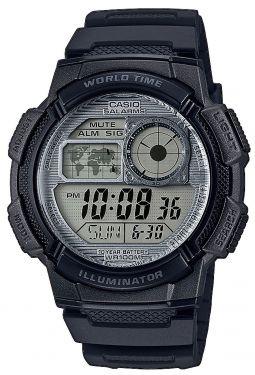 Casio Armbanduhr AE-1000W-7AVEF Digital Uhr schwarz grau