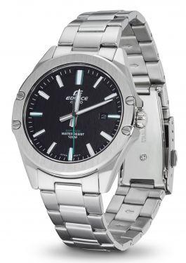 Casio Herren Armbanduhr Edelstahl EFR-S107D-1AVUEF Saphirglas vorne