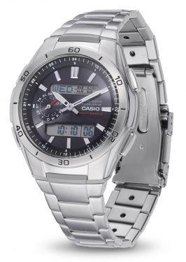 Casio Herren Funkuhr WVA-M650D-1AER Solar Armbanduhr vorne