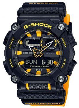 Casio G-Shock Uhr GA-900A-1A9ER Armbanduhr orange schwarz