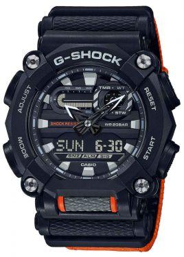 Casio G-Shock Uhr GA-900C-1A4ER Armbanduhr Textilband orange