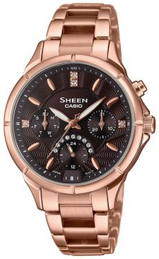 Damenuhr Armbanduhr Casio SHEEN Uhr SHE-3047PG-5AUER