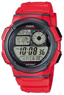 Casio Digitaluhr AE-1000W-4AVEF Digital Armbanduhr rot