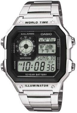 Casio Uhr AE-1200WHD-1AVEF Digital Uhr schwarz Edelstahl-Armband