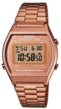 B640WC-5AEF Casio Herren Uhr Retro Digitaluhr Timer Kupfer Armbanduhr