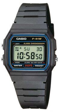 Casio Uhr Digital F-91W-1YEG Collection Armbanduhr