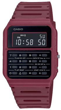 Casio Vintage Armbanduhr Taschenrechner-Uhr CA-53WF-4BEF rot