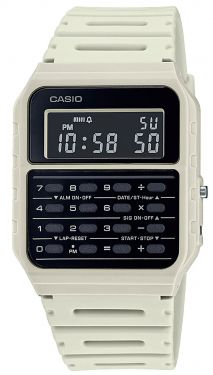 Casio Vintage Armbanduhr Taschenrechner-Uhr CA-53WF-8BEF weiß