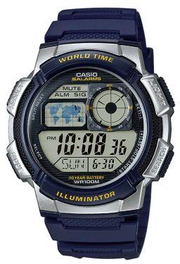 Casio Digital Uhr AE-1000W-2AVEF blau silber