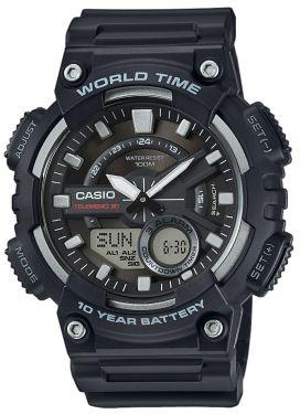 Casio Collection Armbanduhr AEQ-110W-1AVEF AnaDigi Uhr schwarz