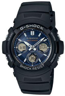 Casio G-Shock Herren Uhr AWG-M100SB-2AER Funk Solar schwarz blau