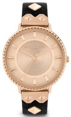 DAISY DIXON Damenuhr Armbanduhr Lederband schwarz inkl. Clutch DD107BRG