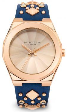 DAISY DIXON Damenuhr Armbanduhr Lederband blau DD110URG