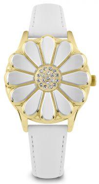 DAISY DIXON Damenuhr Armbanduhr Lederband weiß DD114WG