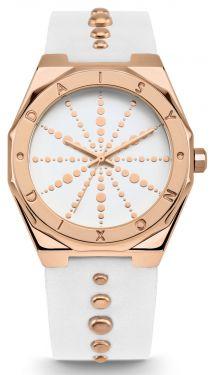 DAISY DIXON Damenuhr Armbanduhr weiß rosegolden DD138WRG inkl. Clutch