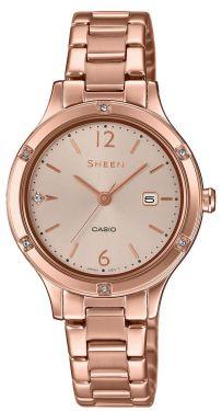 Casio Damenuhr Armbanduhr Sheen SHE-4533PG-4AUER rosegolden