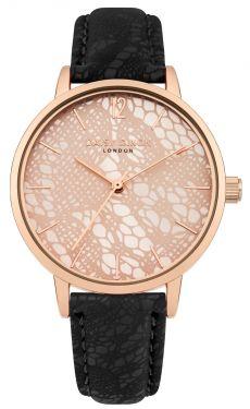 DAISY DIXON Damenuhr Armbanduhr Lederband schwarz DD051BRG