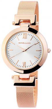 Damenuhr rosegolden Armbanduhr Edelstahl Mesh Analog Quarz Uhr