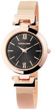 Damenuhr rosegold schwarz Armbanduhr Edelstahl Mesh Quarz Uhr
