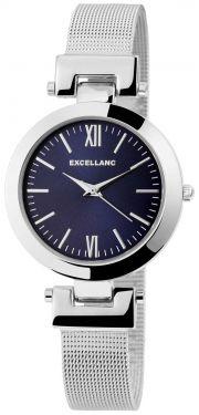 Damenuhr silber blau Armbanduhr Edelstahl Mesh Quarz Uhr Meshband