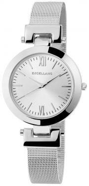 Damenuhr silber Armbanduhr Edelstahl Mesh Quarz Uhr Meshband