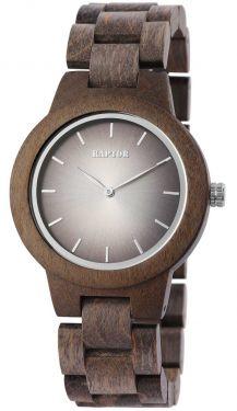 Raptor Damen Uhr Holz Armbanduhr braun Holzuhr RA10208-001