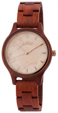 Raptor Damen Uhr Holz Armbanduhr braun Holzuhr RA10209-002