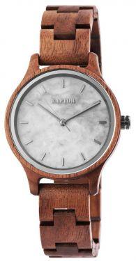 Raptor Damen Uhr Holz Armbanduhr braun Holzuhr RA10209-003