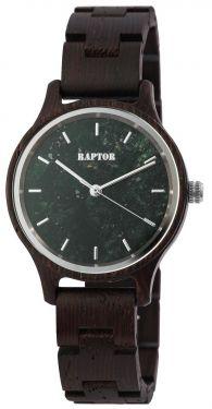 Raptor Damen Uhr Holz Armbanduhr dunkelbraun Holzuhr RA10209-004
