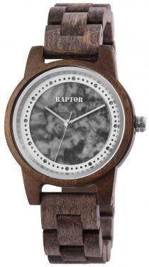 Raptor Damen Uhr Holz Armbanduhr braun silber Holzuhr RA10210-001