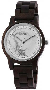 Raptor Damen Uhr Holz Armbanduhr braun silber Holzuhr RA10210-002