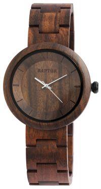 Raptor Damen Uhr Holz Armbanduhr braun RA10171-002