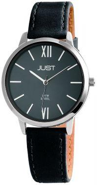 Just Damen Uhr Echt Leder anthrazit JU10072-002 Armbanduhr