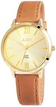 Just Damen Uhr braun golden Echt Leder JU10072-003 Armbanduhr
