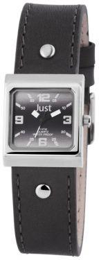 Just Damen Uhr Echt Leder JU10155-012 Armbanduhr eckig