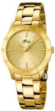 Damenuhr Lotus Armbanduhr Edelstahl PVD gold 18140/2