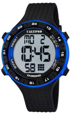 Calypso Herren Armbanduhr Digital Uhr K5663/2 schwarz blau