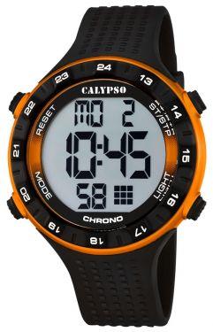 Calypso Herren Armbanduhr Digital Uhr K5663/3 schwarz orange