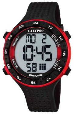 Calypso Herren Armbanduhr Digital Uhr K5663/4 schwarz rot
