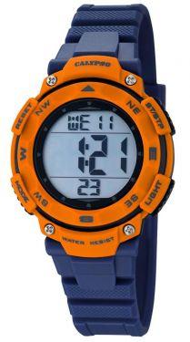 Calypso Digital Sport Damen Armbanduhr K5669/4 blau orange