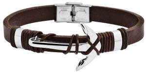 Akzent Lederarmband braun Echtleder Armband Anker
