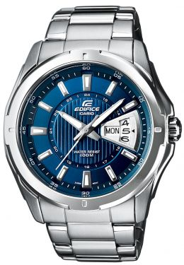 EF-129D-2AVEF Casio Edifice Uhr Edelstahl Herrenuhr blau