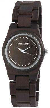 Excellanc Damen Holz Uhr dunkelbraun Armbanduhr 1800193-003 Holzuhr