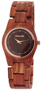 Excellanc Damen Holz Uhr Armbanduhr 1800193-004 Holzuhr