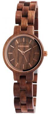 Damen Armbanduhr Holz 1800194-004 Excellanc Uhr braun Holzuhr