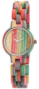 Damen Armbanduhr Holz 1800194-005 Excellanc Uhr bunt Holzuhr